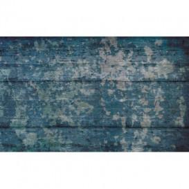 Fototapeta na stenu - FT4729 - Drevená stena - modrá