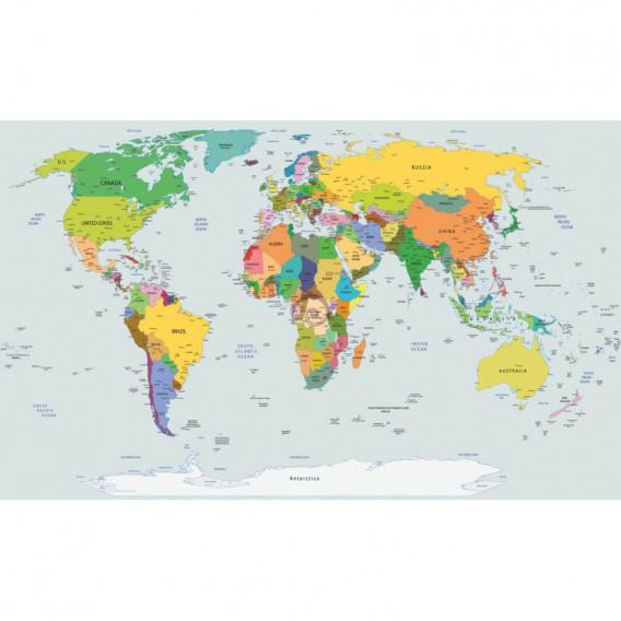 Fototapeta na stenu - FT2395 - Mapa sveta – farebná