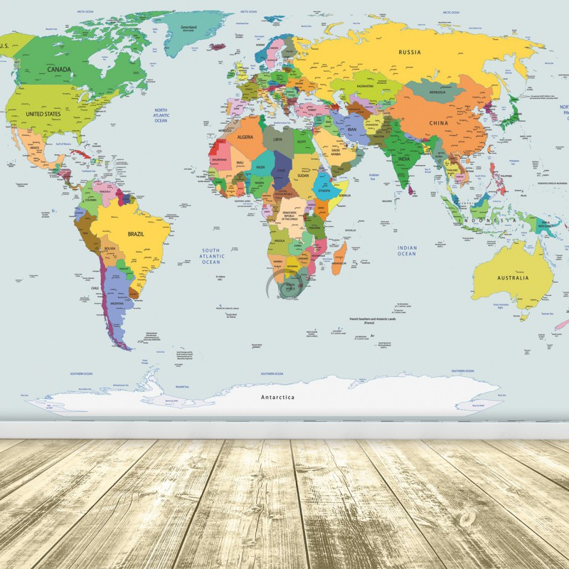mapa sveta 3d Fototapeta na stenu   FT2395   Mapa sveta – farebná | preinterier.sk mapa sveta 3d