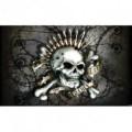 Fototapeta na stenu - FT4056 - Lebka s nábojmi – sivá