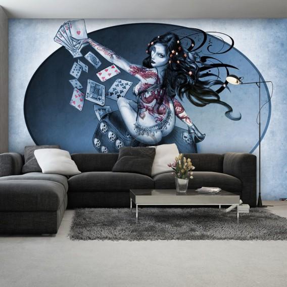 Fototapeta na stenu - FT4060 - Hráčske kocky – žena modrá
