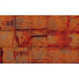Fototapeta na stenu - FT4737 - Stena - hrdzavý plech