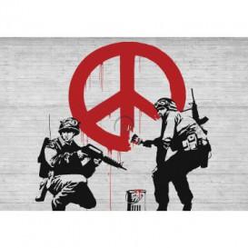 Fototapeta na stenu - FT3493 - Banksy: Peace