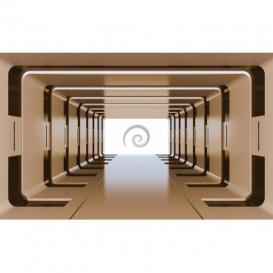 Fototapeta na stenu - FT3289 - 3D tunel – hnedý