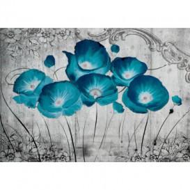 Fototapeta na stenu - FT4083 - Vlčie maky – modré