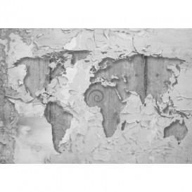 Fototapeta na stenu - FT3298 - Mapa sveta – ošúchaná stena