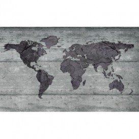 Fototapeta na stenu - FT2845 - Mapa sveta – kamenná