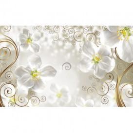 Fototapeta na stenu - FT3190 - Kvetovaný ornament – biele pozadie