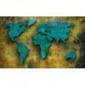 Fototapeta na stenu - FT3192 - Mapa sveta – kovová