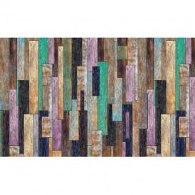 Fototapeta na stenu - FT4817 - Drevená stena - farebná