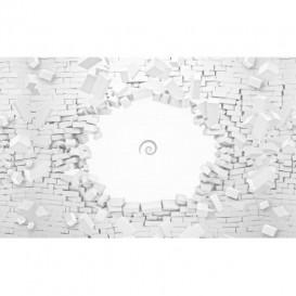 Fototapeta na stenu - FT4101 - Tehlová stena – biela 3D