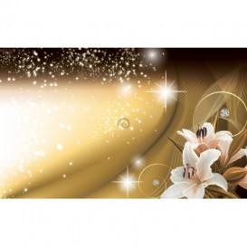 Fototapeta na stenu - FT4856 - Kvety na zlatom pozadí