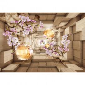 Fototapeta na stenu - FT5075 - 3D kocky s kvetmi