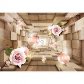 Fototapeta na stenu - FT5086 - 3D kocky s kvetmi