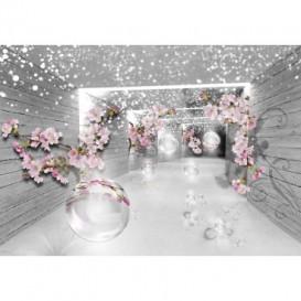 Fototapeta na stenu - FT5088 - 3D tunel s kvetmi