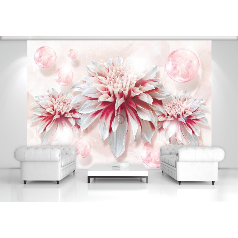 Fototapeta na stenu - FT5130 - Červeno biely kvet  b723b0ab8b6