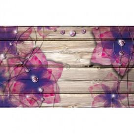 Fototapeta na stenu - FT5238 - Kvety na drevenom pozadí