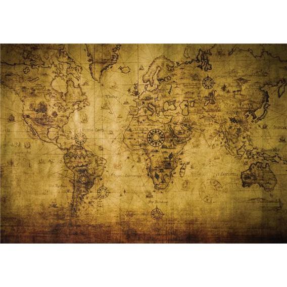 Fototapeta na stenu - FT5284 - Stará mapa sveta