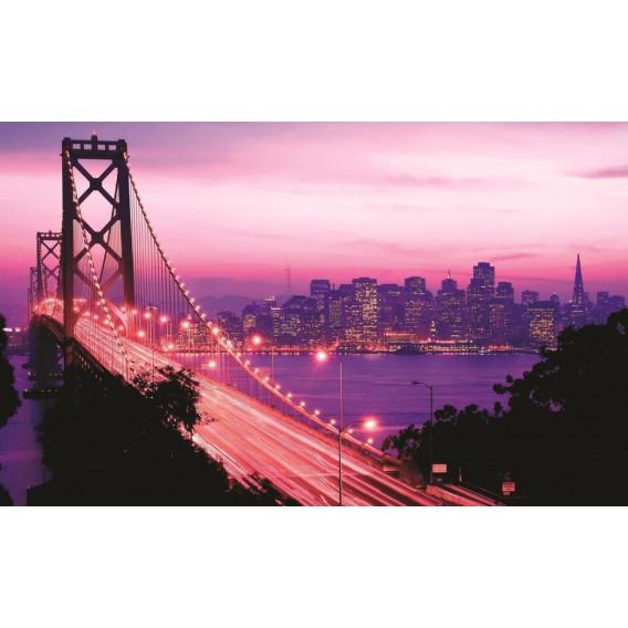Fototapeta na stenu - FT0294 - Golden Bridge fialový