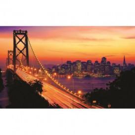 Fototapeta na stenu - FT0295 - Golden Bridge oranžový