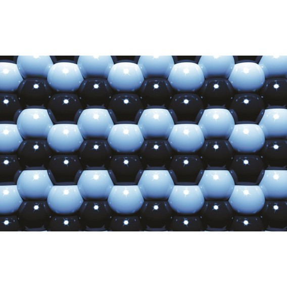 Fototapeta na stenu - FT0583 - 3D Modré guľôčky