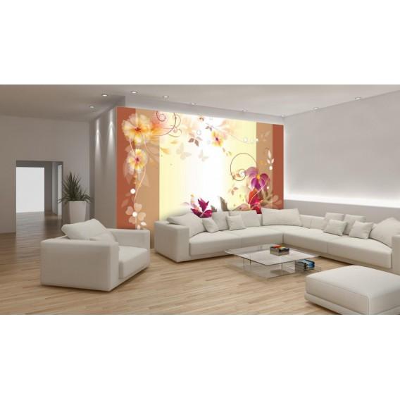 Fototapeta na stenu - FT0466 - Kreslené kvety