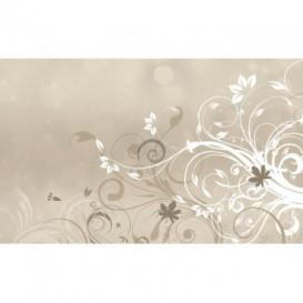 Fototapeta na stenu - FT0437 - Biele kreslené kvety