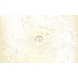 Fototapeta na stenu - FT0436 - Biele kreslené kvety