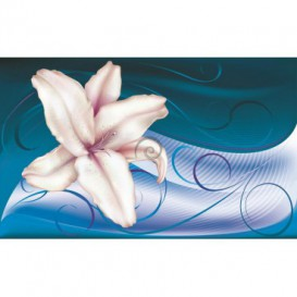 Fototapeta na stenu - FT0440 - Ružovo biely kvet