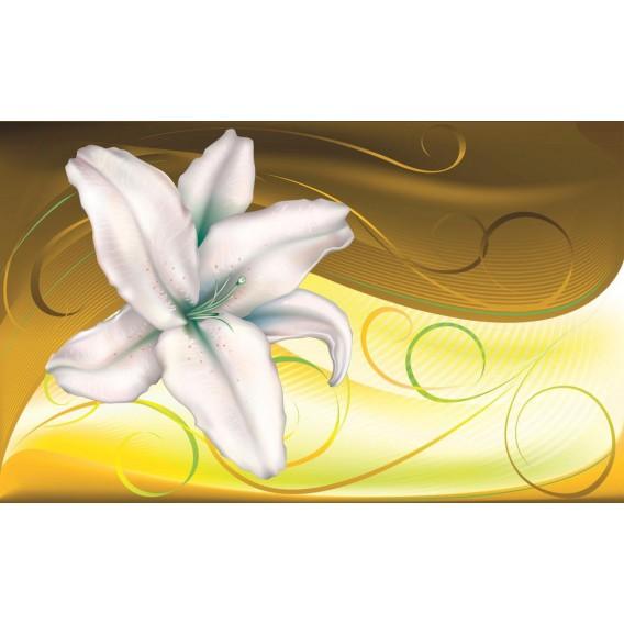 Fototapeta na stenu - FT0442 - Modrobiely kvet