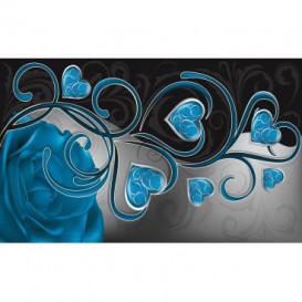 Fototapeta na stenu - FT0448 - Modré srdiečka