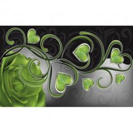 Fototapeta na stenu - FT0449 - Zelené srdiečka