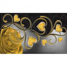 Fototapeta na stenu - FT0450 - Žlté srdiečka