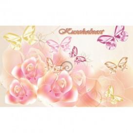 Fototapeta na stenu - FT0246 - Motýle a kvety