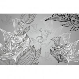 Fototapeta na stenu - FT0203 - Čiernobiele kvety