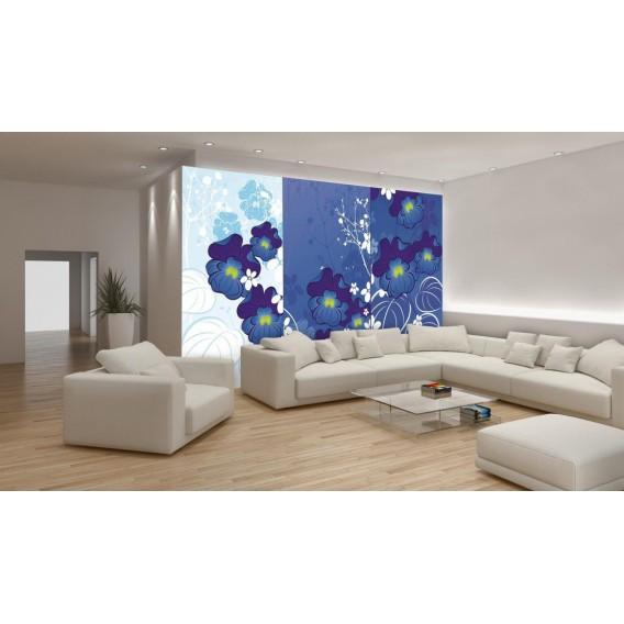 Fototapeta na stenu - FT0480 - Modré kvety