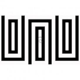 Fototapeta na stenu - FT0482 - Čiernobiely obdĺžnik