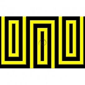 Fototapeta na stenu - FT0483 - Čierno žltý obdĺžnik