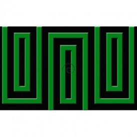 Fototapeta na stenu - FT0490 - Čierno zelený obdĺžnik