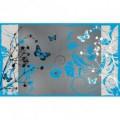 Fototapeta na stenu - FT0254 - Modré kvety a motýle