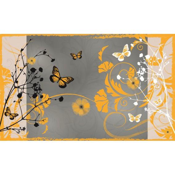 Fototapeta na stenu - FT0256 - Žlté kvety a motýle