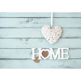 Fototapeta na stenu - FT5426 - Home - srdce na laťkovej stene