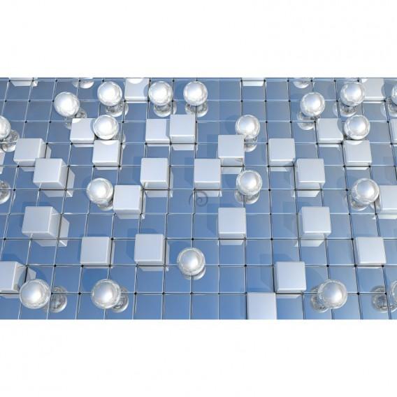 Fototapeta na stenu - FT5457 - Abstraktné zrkadlové tehličky