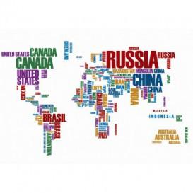 Fototapeta na stenu - FT5470 - Mapa sveta zložená z názvov krajín