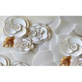 Fototapeta na stenu - FT5472 - Porcelánové kvety - zlatý lem
