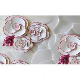 Fototapeta na stenu - FT5480 - Porcelánové kvety - purpurový lem