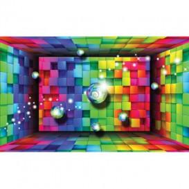 Fototapeta na stenu - FT5484 - 3D farebné tehličky