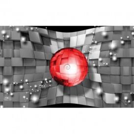 Fototapeta na stenu - FT5485 - 3D červená guľa