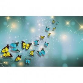 Fototapeta na stenu - FT5489 - Motýle žlto modré