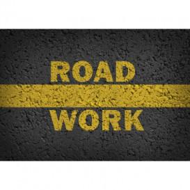 Fototapeta na stenu - FT5501 - Asfaltová cesta - práca na ceste